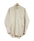 Graphpaper(グラフペーパー)の古着「Finx Rip-Stop B.D Shirt: シャツ」|ベージュ