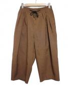 SASQUATCHfabrix.(サスクワッチ ファブリックス)の古着「WIDE PANTS ボトムス」|ブラウン