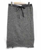 UNDERCOVER(アンダーカバー)の古着「MIXニット巻スカート」|ブラウン