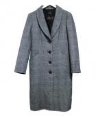 DAMA collection(ダーマ・コレクション)の古着「グレンチェックカシミヤコート」|グレー