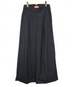 Vivienne Westwood RED LABEL(ヴィヴィアンウエストウッド レッドレーベル)の古着「タックワイドパンツ」|ブラック