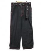 JOHN LAWRENCE SULLIVAN(ジョンローレンスサリバン)の古着「WIDE WORK PANTS ボトムス」|ブラック