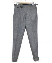 INCOTEX(インコテックス)の古着「SP100sウールトロピカルベルトレスアジャスタースラックス」|グレー