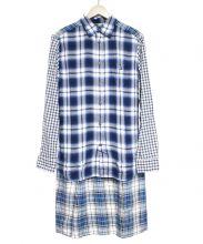 DIESEL(ディーゼル)の古着「ドッキングチェックシャツ」|ブルー