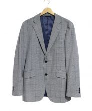 TAKEO KIKUCHI(タケオ キクチ)の古着「コーデュラチェックシングルジャケット」|グレー