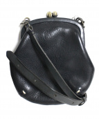 genten(ゲンテン)の古着「トスカレザーがま口ミニショルダーバッグ」|ブラック