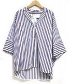 TICCA(チッカ)の古着「レッドマルチストライプブラウス」|マルチカラー