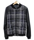 FADTHREE(ファドスリー)の古着「ヴァーシティジャケット」|グレー×ブラック