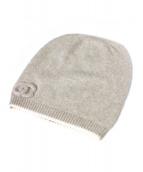 CHANEL(シャネル)の古着「カシミヤニット帽」|アイボリー