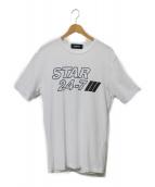 DSQUARED2(ディースクエアード)の古着「PRINT T」|ホワイト×ブラック
