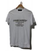 DSQUARED2(ディースクエアード)の古着「PRINT T」|ホワイト×ベージュ