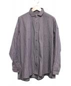 TICCA(チッカ)の古着「スクエアビッグシャツ」|グレー×レッド