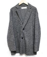 GALERIE VIE(ギャルリーヴィー)の古着「ウールナイロンテーラードロングジャケット」|グレー