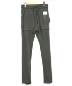 HAIDER ACKERMANN(ハイダー アッカーマン)の古着「LONG JOHN DUPPLESSIS Jogger Pa」|カーキ