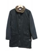 ARMEN(アーメン)の古着「インナーボアロングコート」|ブラック×ブラウン