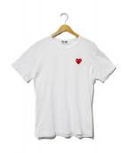 PLAY COMME des GARCONS(プレイコムデギャルソン)の古着「ワンポイントTシャツ」|ホワイト