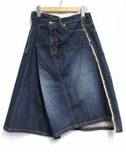 JUNYA WATANABE CDG(ジュンヤワタナベ コムデギャルソン)の古着「変形ラップデニムスカート」