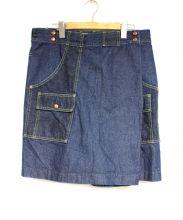 GANRYU(ガンリュウ)の古着「ラップデニムスカート」