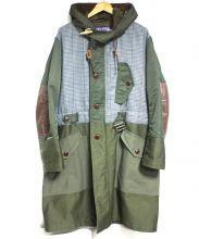 JUNYA WATANABE CdG MAN(ジュンヤワタナベ コムデギャルソン マン)の古着「綿モールスキン×ウールチェックコート」