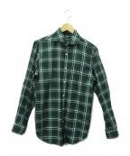 GUY ROVER(ギローバ)の古着「コットンL/Sチェックシャツ」|グリーン