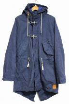 SCOTCH & SODA(スコッチアンドソーダ)の古着「Sea Shanty Canvas Parka Jacket」|ネイビー
