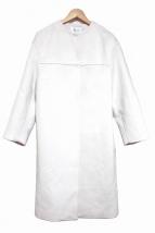 FRAY ID(フレイアイディー)の古着「ノーカラーコート」|ライトピンク