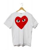 PLAY COMME des GARCONS(プレイコムデギャルソン)の古着「Tシャツ」|ホワイト×レッド