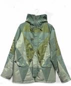 ANREALAGE(アンリアレイジ)の古着「フーデッドコート」