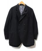 DOLCE & GABBANA(ドルチェ&ガッバーナ)の古着「ダブルメルトンコート」|ブラック