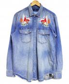 DIESEL(ディーゼル)の古着「D-ROOKEエンブロイダリーシャツ」
