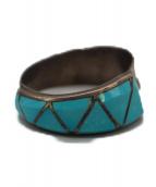 INDIAN JEWELRY(インディアンジュエリー)の古着「ZUNI RING」|シルバー×ブルー