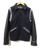 SKOOKUM(スクーカム)の古着「スリーブレザーメルトンアワードジャケット」|ブラック