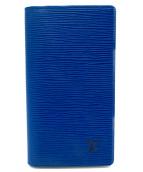 LOUIS VUITTON(ルイ・ヴィトン)の古着「エピ・アジェンダポッシュ手帳カバー」|ブルー