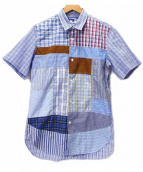 CDG JUNYA WATANABE MAN(コムデギャルソン ジュンヤワタナベ)の古着「パッチワークS/Sチェックシャツ」