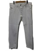 DIESEL(ディーゼル)の古着「SAFADOホワイトデニムパンツ」|ホワイト