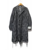 DIESEL(ディーゼル)の古着「ヘンリボーンチェスターコート」|グレー