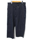 ALLEGE(アレッジ)の古着「WIDE POCKET PANTS」|ネイビー