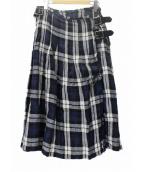 ONEIL OF DUBLIN(オニール オブ ダブリン)の古着「リネンチェックキルトスカート」