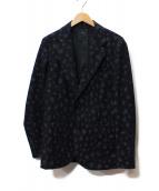 NUMERO UNO(ヌメロウーノ)の古着「レオパードジャケット」|ダークネイビー×ブラック