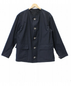 ISSEY MIYAKE MEN(イッセイ ミヤケ メン)の古着「ノーカラージャケット」|ブラック