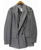 ESTNATION(エストネーション)の古着「ダブルピークドジャケット」|グレー