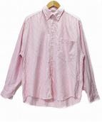 AURALEE(オーラリー)の古着「FINX-SHUTTLE-OX-BD」|ピンク×ホワイト