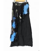 TOGA(トーガ)の古着「スカート」|ブラック×ブルー×アイボリー