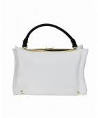 PotioR(ポティオール)の古着「CORINNE バイカラーハンドバッグ」|ホワイト×ブラック