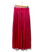 SACRA(サクラ)の古着「エアリークリスタルスカート」|ピンク