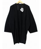HOMME PLISSE ISSEY MIYAKE(オム プリッセ イッセイ ミヤケ)の古着「L/Sプリーツガウン」|ブラック