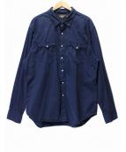 RRL(ダブルアールエル)の古着「コンチョボタンウエスタンシャツ」|ネイビー