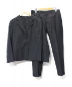 MARGARET HOWELL(マーガレットハウエル)の古着「リネン混セットアップ」|ブラック