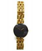 Christian Dior(クリスチャン ディオール)の古着「バギラリストウォッチ」|ゴールドカラー×ブラック