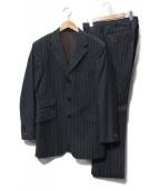 BURBERRY BLACK LABEL(バーバリーブラックレーベル)の古着「ストライプ3Bセットアップスーツ」|グレー